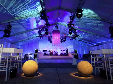 Lighting/Decor/Audio/Staging/Tenting Package at Contemporary Wedding
