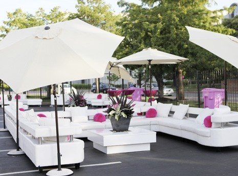 Furniture Rentals for an Outdoor Lounge