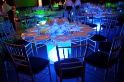 Clear Tables at Science Center Gala