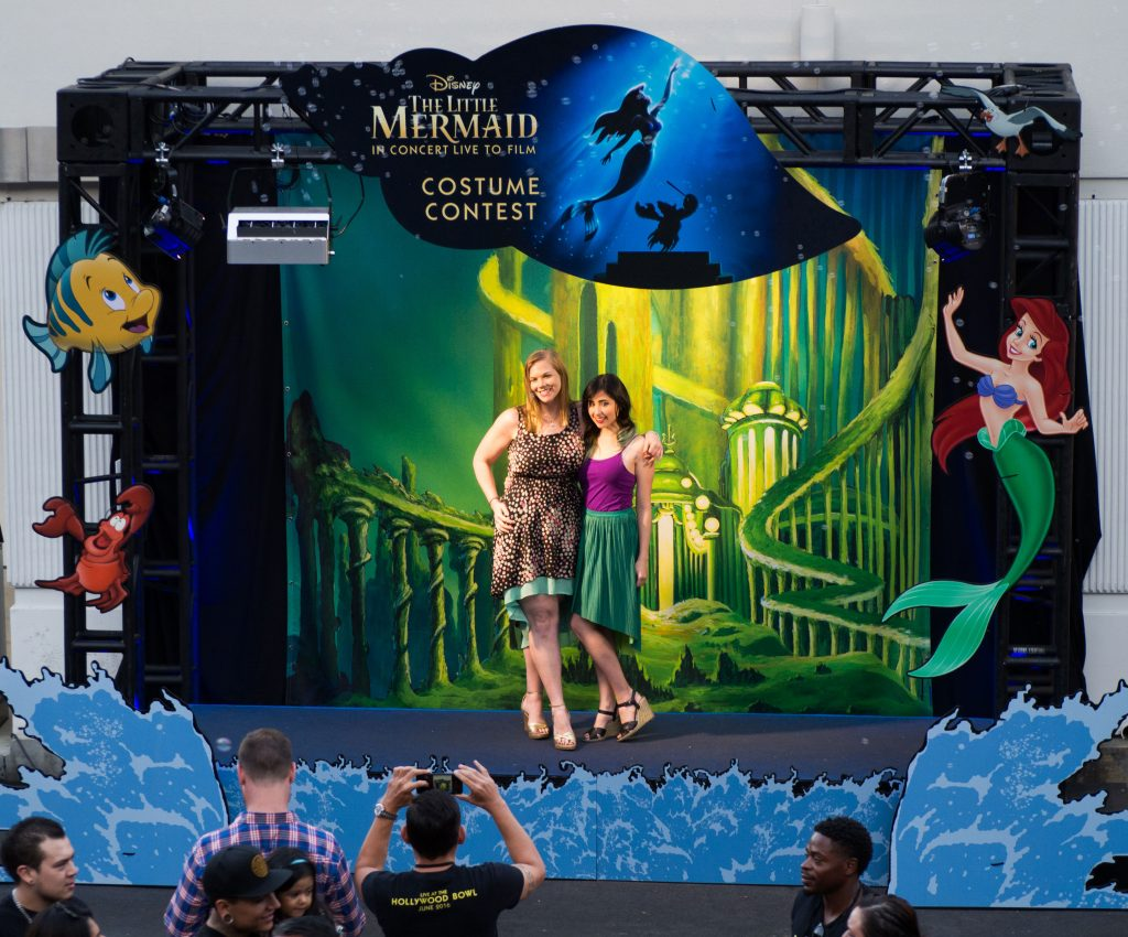 Guests were given the chance to take advantage of fun photo opportunities in which they could pose with friends while surrounded by scenes from Disney's The Little Mermaid.