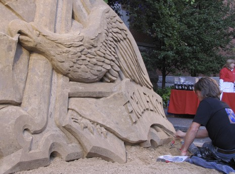 Sand Sculptor at A-B Event