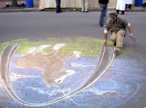 Chalk Artist at A-B Event